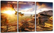 120x80cm Lein-Wand-Bild: Game of Thrones Daenerys Targaryen Drache Fantasy-Lands