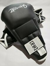 Pro Force Sparring Gloves (Black/White) Open Fingers #8205