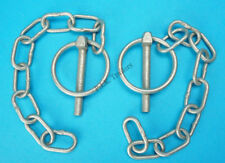 2 x 6mm Galvanised Lynch Pin & Chain Ifor Williams Trailers & Horse Box