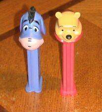 Lot of 2 Eeyore & Winnie the Pooh Pez Candy Dispenser