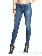 GUESS Women's Power Skinny Jeans - Blue Wash sz 32