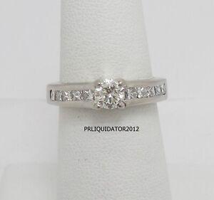 1CT Round Diamond Solitaire Engagement Wedding Bridal Ring Band 14K White Gold