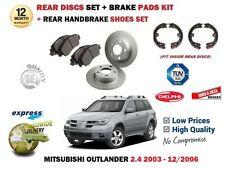 für Mitsubishi Outlander 2.4i 2003-2006 HA Bremsscheiben + BELÄGE SATZ + Schuhe
