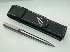 PARKER 25 MECHANICAL PENCIL. BLUE TRIMS + FAUX LEATHER CASE. EXC; CONDITION.