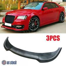 For 15-20 Chrysler 300C Front Bumper Lip Chin  Spoiler Splitter Matte Black Trim