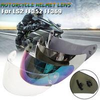 FULL FACE MOTORCYCLE HELMET LENS VISOR ANTI-FOG FOR LS2 FF352 FF351 FF369 FF384