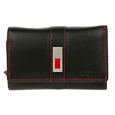 XXL Geldbörse Portemonnaie Damen Herren echt Leder Brieftasche Schwarz Rot