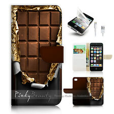 ( For iPhone 5 / 5S / SE ) Wallet Case Cover! P0658 Chocolate