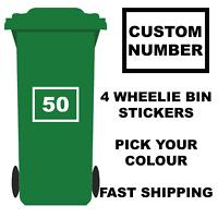 Wheelie Bins Signs Vinyl Stickers With House Number EBay - Custom vinyl stickers milton keynes