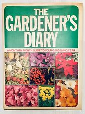 Large Vtg Gardening Book The Gardener's Diary A Month By Month Gardening Guide