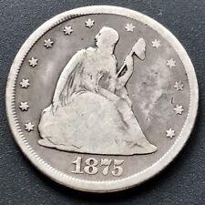 1875 CC Twenty Cent Piece 20c Carson City RARE #6433