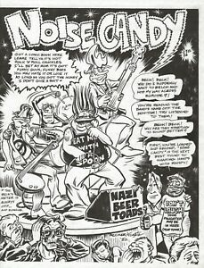 """NOISE CANDY COMICS 1982 """"IN SEARCH OF ROCK 'N' ROLL"""" MUSIC COMIC LARRY BECKER"""