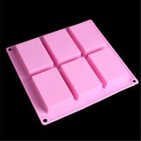Rectangle Silicone Soap Making Molds Baking DIY Mold For Cake Bakeware 2019