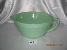 "Fire King Jadeite Colonial Handled Batter Bowl~Pitcher with Pouring Lip~¾"" Band"