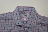 Charles Tyrwhitt London Pink Blue Green Check LONG SLEEVE SHIRT 17 x 35 XL Slim