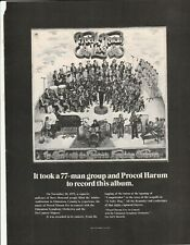 1972 print ad It took a 77-man group and Procol Harum to record this album
