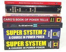 7 Book Lot: Advanced Poker Strategy Cards Gambling Tells Gaming Casino Play