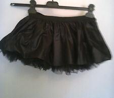 Tutu Nero Sottogonna Costumi Tulle Wet Look Halloween Petticoat Leg Avenue