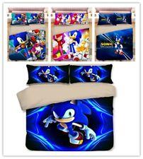 Anime 3D Sonic Bedding Bedding Set Duvet/Quilt cover Pillowcase Single/Double