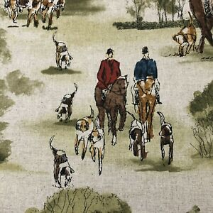 Crosby Hunting | Horse & Hound Dressage Fabric | Double Width 280cm | Curtains
