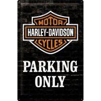 Blechschild HARLEY DAVIDSON 20x30 cm gewölbt geprägt Biker Schild NEU Parking 3D