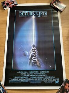 1983 STAR WARS RETURN OF THE JEDI ORIGINAL MOVIE POSTER  -  ROLLED