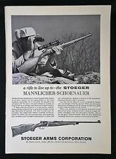 Vintage 1963 Stoeger Arms Corporation Mannlicher-Schoenauer Rifle Full Page AD