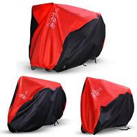 Fahrrad Abdeckung Rot Abdeckplane Fahrradgarage Schutzhülle Für 1-3 Fahrräder