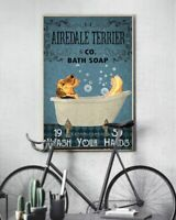 Airedale Terrier Co Bath Soap Poster Print 24x36 Inches, Wall Art Vintage
