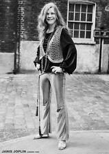 """Janis Joplin POSTER """"London 1969-S/W"""""""