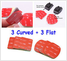 6 Pieces 3M VHB Adhesive Pads 3 Flat + 3 Curved for GoPro HERO Camera