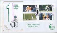 2013 Cotswold PRIMO GIORNO DI COPERTURA ANDY MURRAY Wimbledon Mini Foglio speciale annullare un