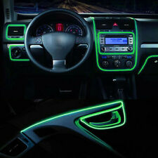 6.5FT LED Car Interior Decor Atmosphere Wire Strip Green Light Lamp Accessories