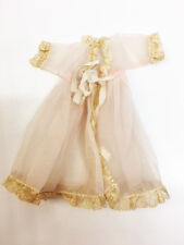 """Vintage 1959's Tagged Ginger Pink & Lace 7 1/2"""" Doll Clothes Robe"""