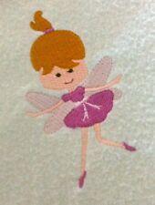 Baby s Fleece Cot Blanket - Fairy - personalised with baby s name - LEMON 45469dacd