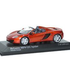 McLaren MP4-12C Spider 2012 Volcano Vulkan orange met. Minichamps 530133030 1:43