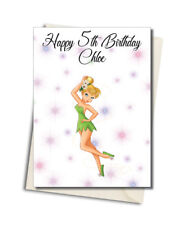 Personalised Tinkerbell Birthday Card A5 Large - Any Name