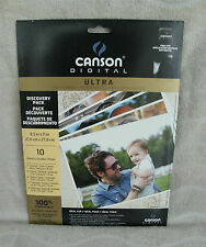 Canson Ultra Digital Imaging Paper Discovery Pack 10 Sheets ~ NEW