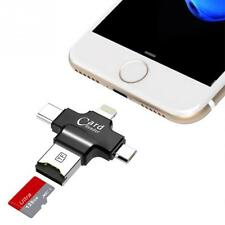 4in1 Micro USB Type C OTG TF Card Reader for IOS iPhone Android Samsung