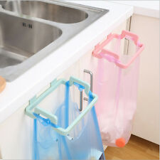 Mini Portable Plastic Door Garbage Trash Bag Can Rack Holder Kitchen Tool Pink J
