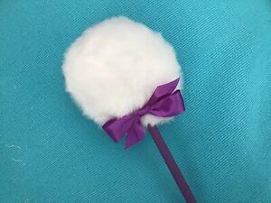 Lollipop body powder puff,  dusting powder puff with handle, purple