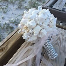 XO Bouquets White Seashell Bouquet Pictured In People Online Weddings