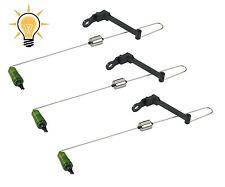 kit 3 swinger verde con luce pesca carpfishing scimmiette luminose avvisatore