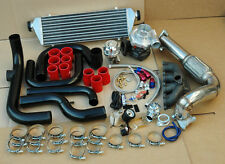 94-01 ACURA INTEGR B16 B18 BLACK TURBO BOLT-ON KIT+ INTERCOOLER+ ALUMINUM PIPES