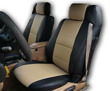 CHRYSLER SEBRING CONVERTIBLE BLACK/BEIGE IGGEE S.LEATHER CUSTOM SEAT COVER