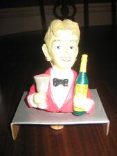 Noritake Wine Stopper Waiter with Wine Glass & Bottle New in Box