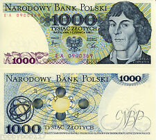 POLAND 1000 Zlotych Banknote World Paper Money Currency Pick p-146c Copernicus