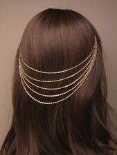 New Gold Coloured Vintage Cascaiding Head Chain On Grips Parties Dances Festival