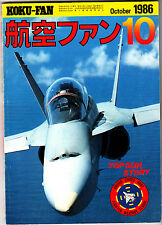 Koku-Fan Magazine October 1986 #10 Japanese Military Aircraft Top Gun Navy