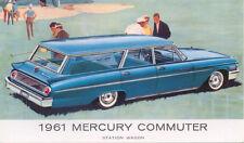 Mercury Commuter Station Wagon for 1961 original Postcard